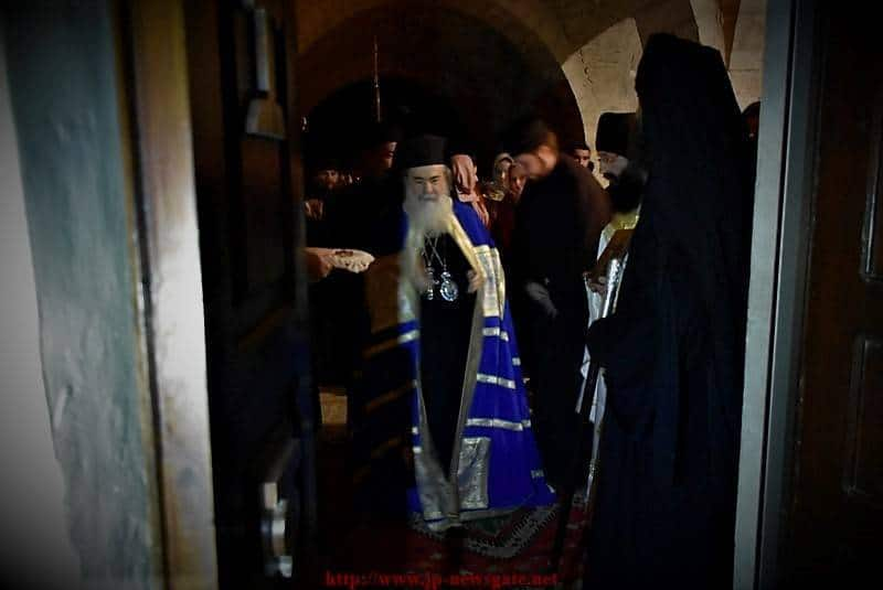 His Beatitude the Patriarch of Jerusalem leading the Vigil