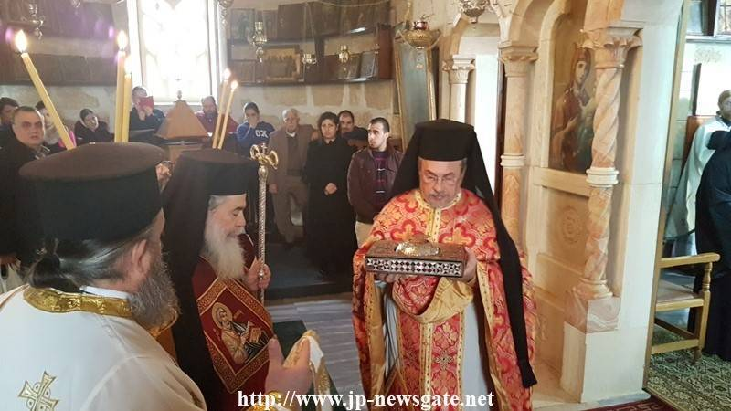 His Beatitude entering the Holy Altar