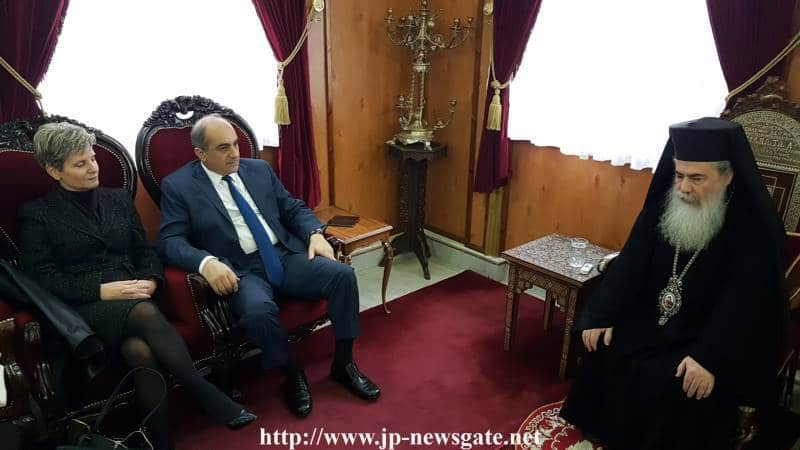 The President of the Cypriot Parliament Mr. Syllouris visits the Patriarchate