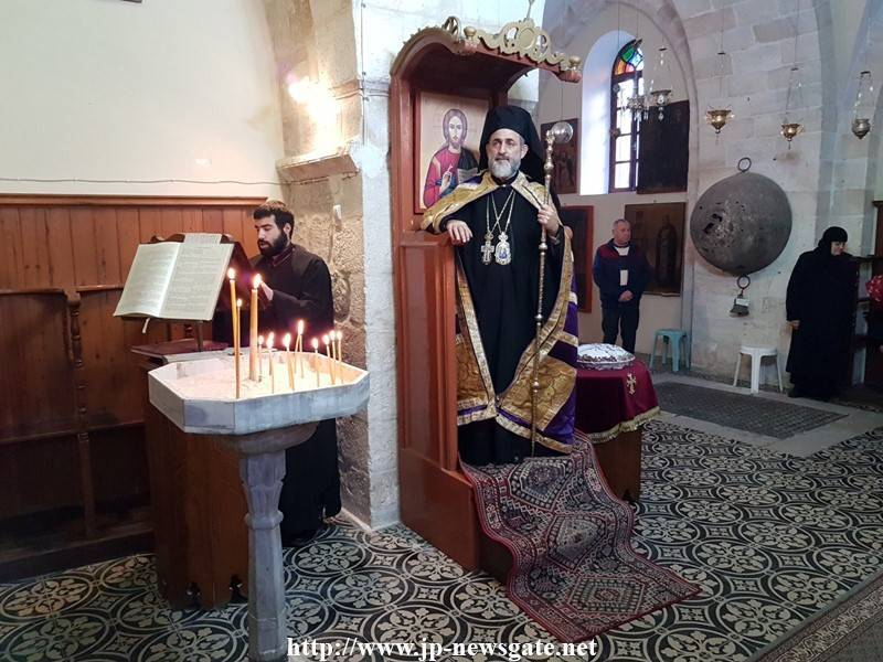 The Most Reverend Metropolitan of Helenoupolis at the H. Monastery of St. Nicodemus