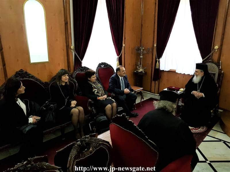 The visit of the Mayor of Rhodes Mr. Chatzidiakos at the Patriarchate