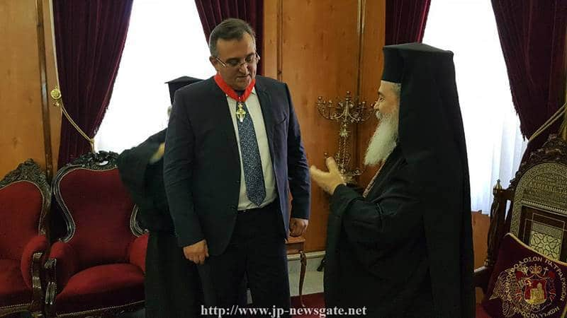 Awarding of His Excellency Mr. Nadolenko by His Beatitude