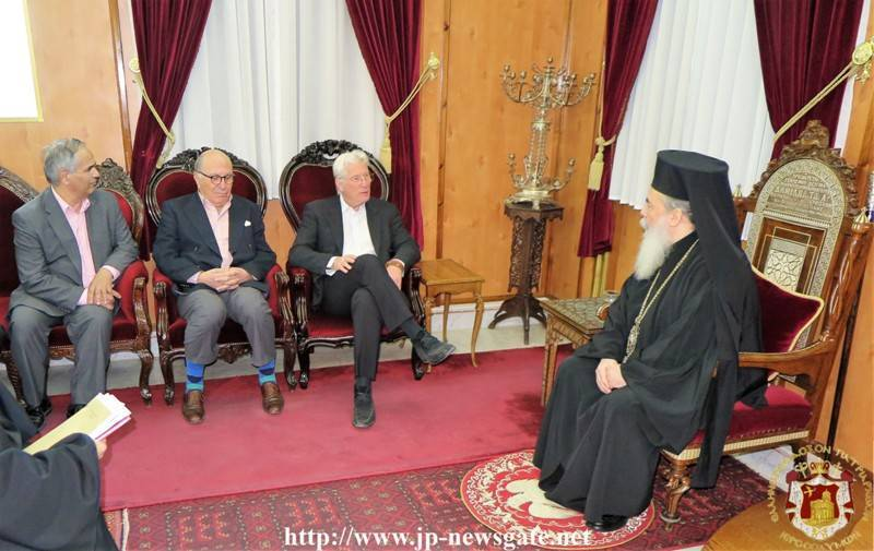 Mr. Gere's visit at the Patriarchate