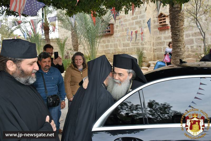 His Beatitude arrives at the H.Monastery of St. Gerasimos