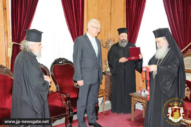His Beatitude awards the Ambassador of Hungary Mr. Géza Mihalyi