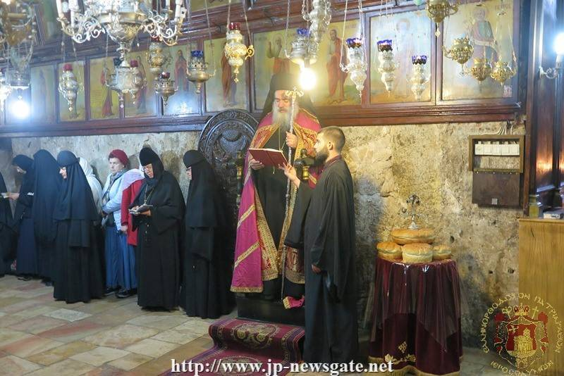The Most Reverend Archbishop of Sebastia leading the feast