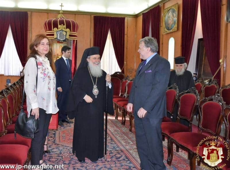 The Deputy Foreign Minister of Greece Mr. G. Katrougalos with His Beatitude