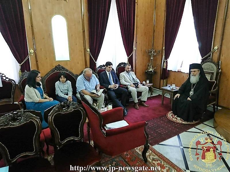 The visit of the Chief Secretary of the Greek Ministry of Education Mr. Kalantzis at the Patriarchate