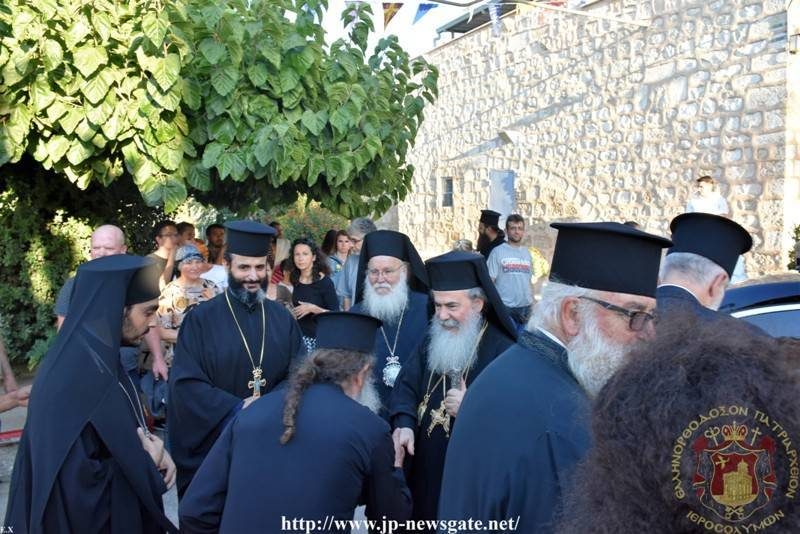 His Beatitude reaching the H. Monastery of Mount Tabor