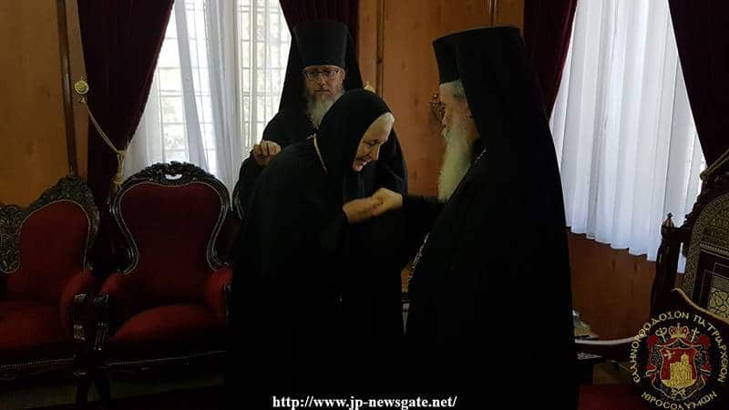 The new Abbess of the Russian Monastery of the Olive Grove receives His Beatitude's wishes