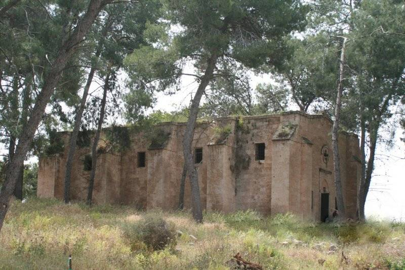 The Church of 'The Ascension of the Lord' and 'Prophet Elijah' in Ma'lul before restoration [in May 2009].