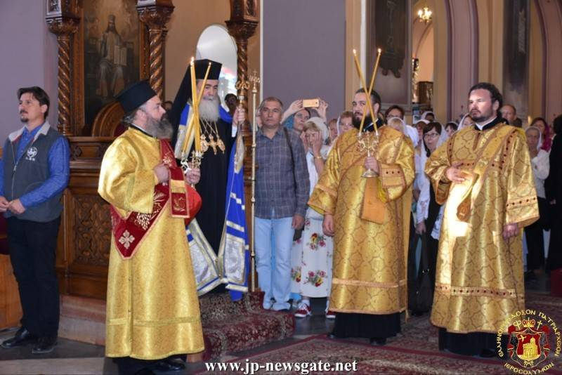 His Beatitude celebrates the Divine Liturgy at the H. Church of the Holy Trinity of MISSIA