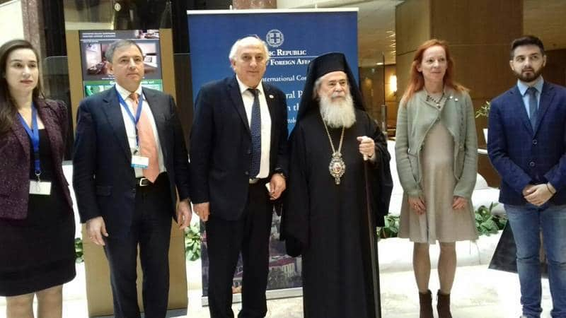 Meeting of His Beatitude the Patriarch of Jerusalem with the Chief of the Hellenic Air Force Mr. Christodoulou
