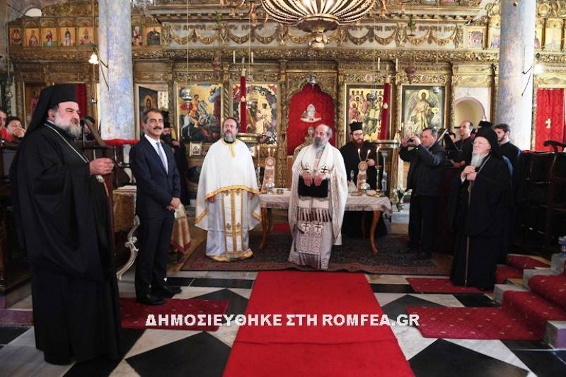 Visit of the Minister of Internal Affairs Mr. Skourletis at the Patriarchate