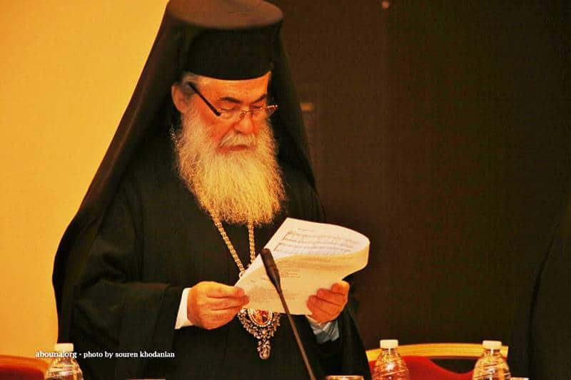 His Beatitude the Patriarch of Jerusalem Theophilos at the W.C.C. Meeting