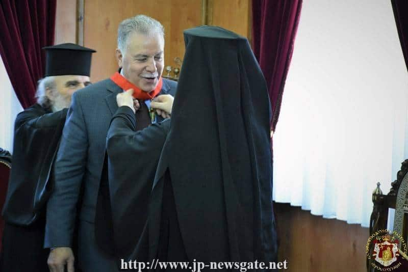 Mr. Spanos' awarding at the Patriarchate Hall