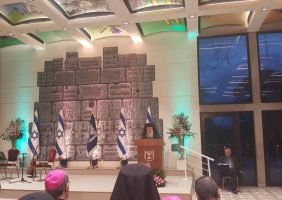 His Beatitude at the Christmas and New Year Reception by the President of Israel