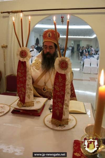 The Most Reverend Archbishop of Qatar at the Christmas Divine Liturgy